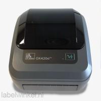 Zebra GK420d labelprinter + Dymo S50 weegschaal + 2 rollen A6 etiketten