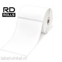RD-S02E1 Gestanst papier etiket 102 x 152mm - wit - verwijderbaar