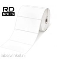 RD-M03E1 Voorgestanste thermisch etiketten 102mm x 152mm - wit