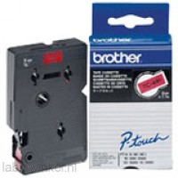 Brother TC-491 Tape Zwart op rood, 9mm.