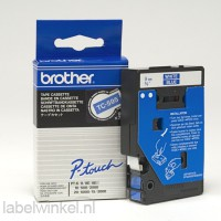 TC-595 Brother tape wit op blauw 9mm breed