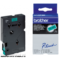 TC-701 Brother lettertape zwart op groen, 12mm breed