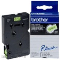 Brother TC-C01 Tape Zwart op geel, 12mm, fluorescerend